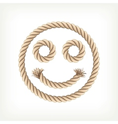 Rope smiley vector