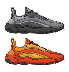 set sports shoes vector image