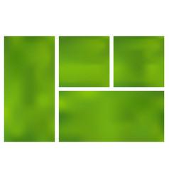 Set template horizontal vertical square green vector