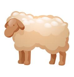 sheep icon cartoon style vector image