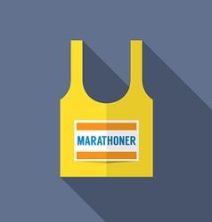 Singlet Of Marathon Runner vector