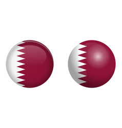 state qatar flag under 3d dome button and on vector image