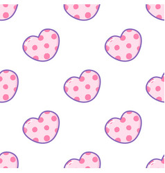 sticker style cartoon heart seamless vector image