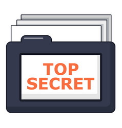 top secret folder icon cartoon style vector image