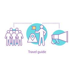 Travel guide concept icon vector