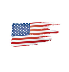 Usa flag on a white vector