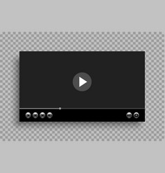 video player template with glossy buttons design vector image