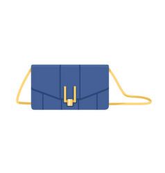Women fashion clutch with flap snap closure vector