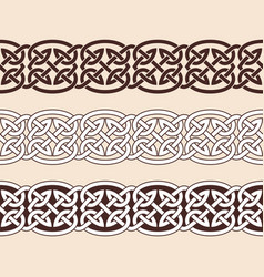 celtic national ornaments vector image vector image