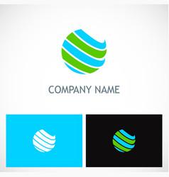 globe sphere colored planet logo vector image