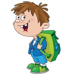 smiling schoolboy vector image vector image