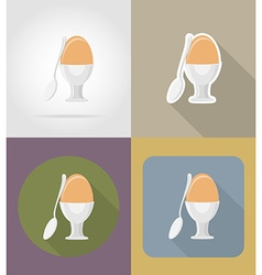 objects for food flat icons 11 vector image vector image
