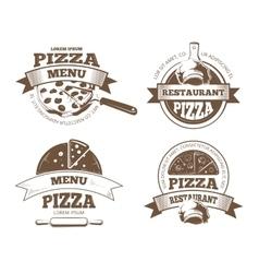 Retro pizzeria labels logos badges vector image vector image