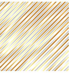 striped diagonal silver and golden color vector image