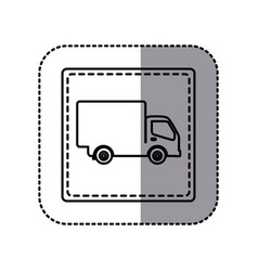 white emblem delivery car icon vector image