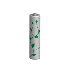 battery green energy symbol in 3d vector image vector image