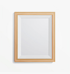 realistic photo frame with soft shadow vector image vector image