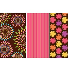 Retro wallpaper pattern vector image