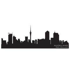 Auckland new zealand skyline detailed silhouette vector