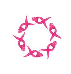 Breast ribbon icon logo vector image