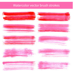bright pink watercolor brush strokes vector image