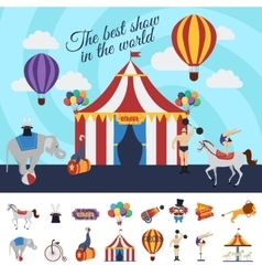 Circus Performance Concept vector image