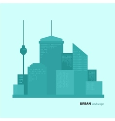 Flat design urban landscape color vector