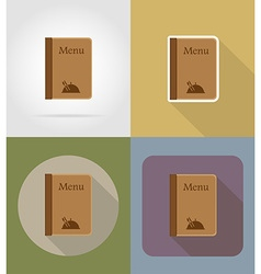objects for food flat icons 12 vector image vector image