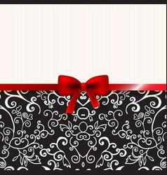 Vintage romantic background floral card vector image