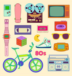 80s retro vector image