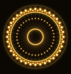 abstract yellow ring vector image