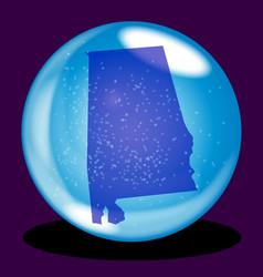alabama state crystal ball map vector image