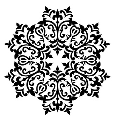 Antique ottoman turkish pattern design sixty vector