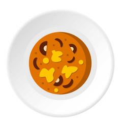 Asian hot dish icon circle vector