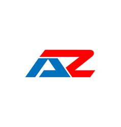 Az letter initial logo vector