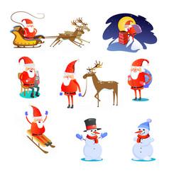 baby in hands of santa claus makes wish man in vector image