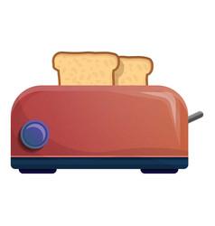 bread toaster icon cartoon style vector image