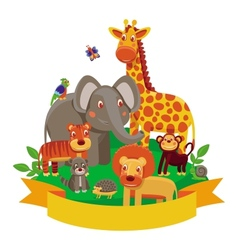 cartoon animals - zoo vector image