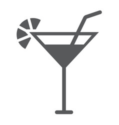 cocktail glyph icon beverage and drink alcohol vector image