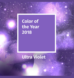 color of the year 2018 color trend palette vector image