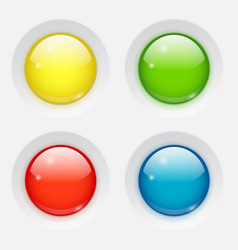 colored round buttons vector image