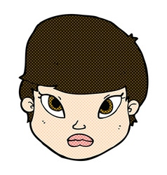 comic cartoon serious face vector image