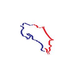 Costa rica map icon symbol vector