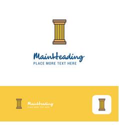 Creative piller logo design flat color logo place vector