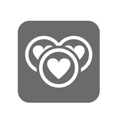 customer service icon with heart sign vector image