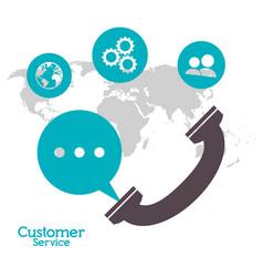 Customer service telephone call center vector