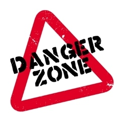 Danger Zone rubber stamp vector