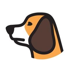 Dog icon vector image