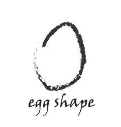 drawing of egg shape in grunge style vector image