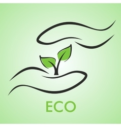 Eco logotype vector